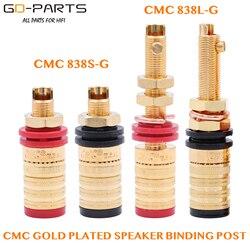 Cmc 838s-g 838l-g 24 k banhado a ouro ofc alto-falante amplificador ligação pós terminal banana tomada tomada conector de saída de áudio de alta fidelidade diy