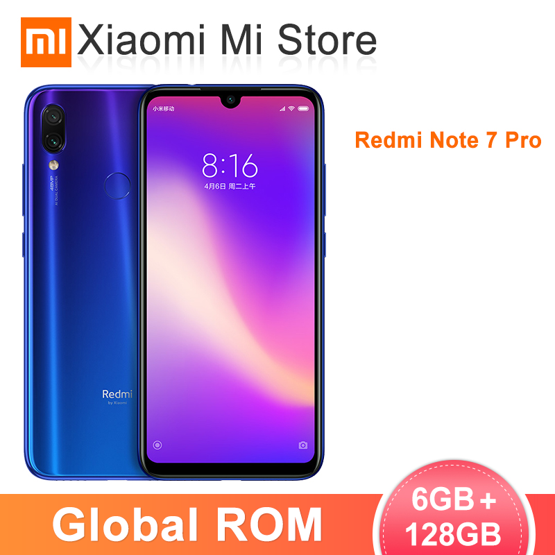 Global ROM Xiaomi Redmi Note 7 Pro 6GB 128GB Note7 Snapdragon 675 Octa Core 48MP+5MP Dual Camera 6.3