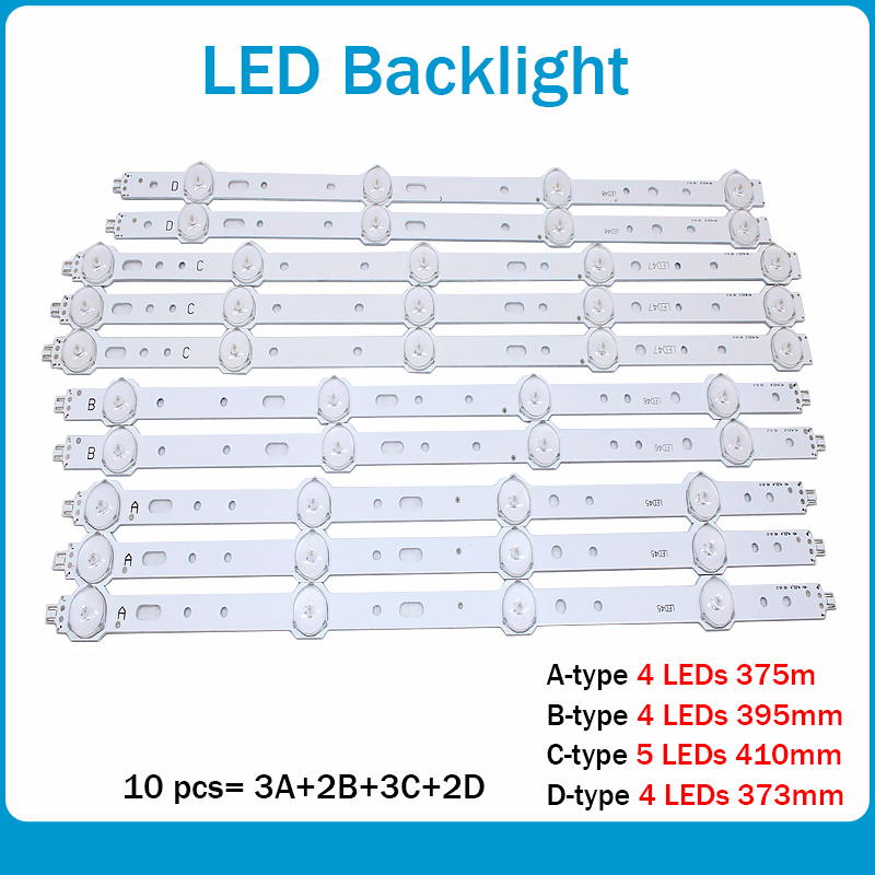 LED Backlight 4/5lamp For Samsung 40inch TV SVS400A73 40D1333B 40L1333B 40PFL3208T LTA400HM23 SVS400A79 40PFL3108T/60