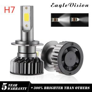 2X Super bright COB Chip H7 CAR LED Head