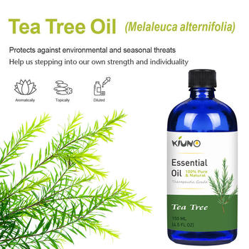 KIUNO 150ML Tea Tree Essential Oils 100% Pure and Natural with Therapeutic Grade,Aromatherapy for Relieve Stress Essential Oil 2