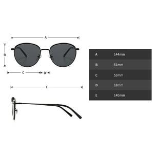 Image 5 - Peekaboo lunettes de soleil rondes rétro pour hommes et femmes, monture métallique, monture estivale, vert, noir, uv400 2020