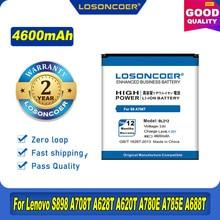 LOSONCOER 100% Original 4600mAh Bateria Para Lenovo S898 A708T BL212 A628T A620T A780E A785E A688T A858T S8 S898T Telefone