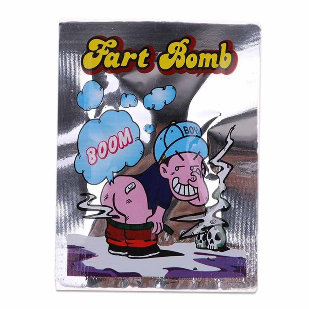 Sıcak 1 adet/takım cadılar bayramı yenilik kokmuş gaz osuruk bomba çanta Prank Trick oyuncak şakalar araçlar Gag yenilik ve Gag oyuncaklar çocuk hediyeler