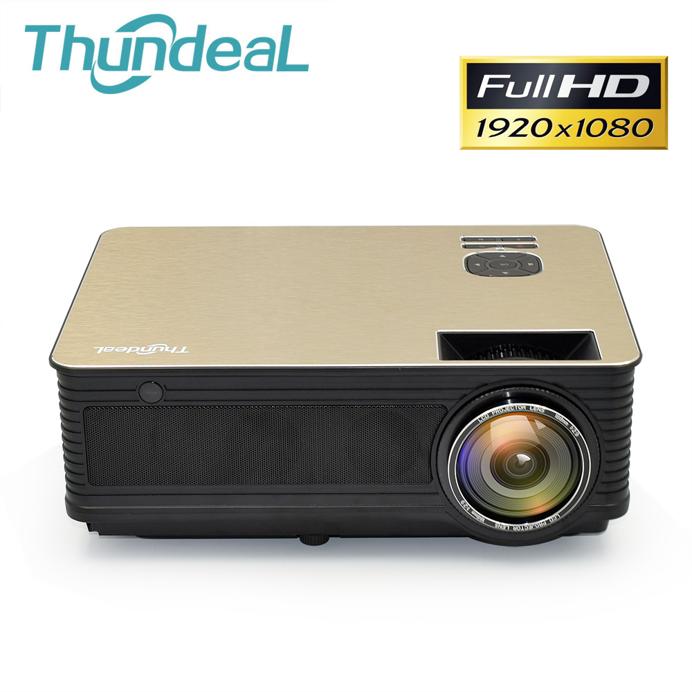 ThundeaL projektor HD do obsługi kina domowego Full HD 1080P Android 6.0 WiFi projektor Bluetooth LED M5 M5W 3D rzutnik