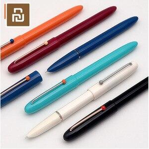 Image 1 - Youpin Kaco Retro Stift Kapuze Spitze füllfederhalter mit Tinte Patrone Geschenk Set Glatte Schreiben Student Praxis Handschrift Stift 0,38mm