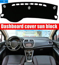 Car dashboard Avoid light pad Instrument platform desk cover Mats Carpets Auto accessories car styling for Suzuki s.cross scross car dashboard mats cover void light pad instrument platform carpet cover mat protection for mini cooper r55 r56 accessories