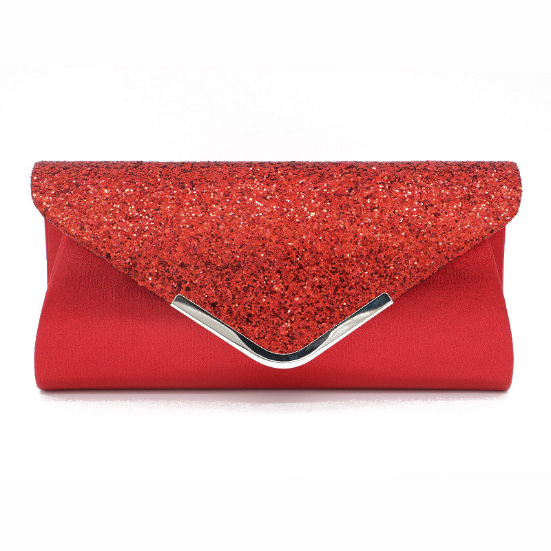 Wedding Party Women Glitter Shimmer Clutch Bag