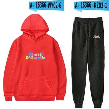 Nes Charli Damelio Merch Hoodie Womens Tracksuit Sweatpants Suit Charlie Damelio Shirt Trousers Sets Unisex Clothes Print Casual 11