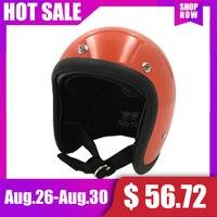 TT&CO 500TX Motorcycle Helmet Fiberglass Vintage Retro Casco Moto Helmet 3 snap Scooter Half Face Retro capacete de motocicleta