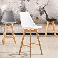 2 шт., Современный барный стул, минималистичный прочный высокий стул, деревянный барный стул для кофе, паба, барный стул для питья, домашняя м...