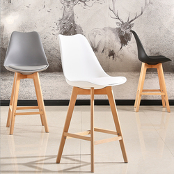2pc Moderne Bar Stuhl Minimalistischen Fest Hohe Hocker Holz Bar Stuhl Kaffee Pub Trinken Barhocker Hause Funiture Küche Stuhl HWC