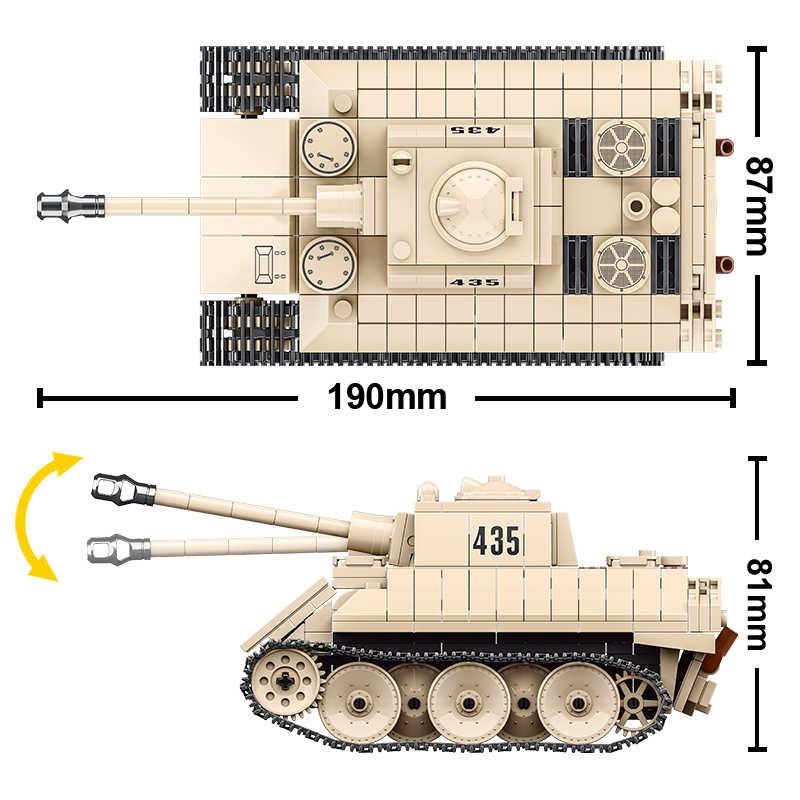 446PCS WW2 Military German VK1602 Tank Building Blocks Technic Leopard Kid Toys