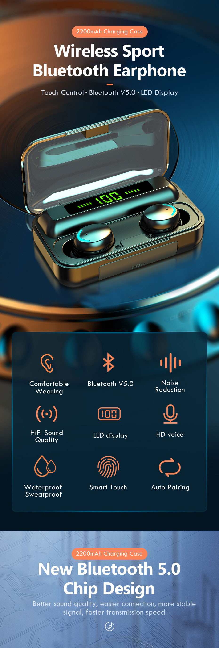 Wireless Headphones Noise Cancelling