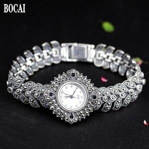 Image 1 - ใหม่ Elegant ธุรกิจ 925 เงินสเตอร์ลิงสตรีฤดูใบไม้ร่วงสร้อยข้อมือนาฬิกา