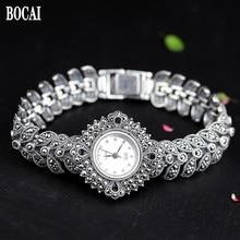 Il nuovo elegante di affari 925 sterling argento di autunno delle donne del braccialetto orologi