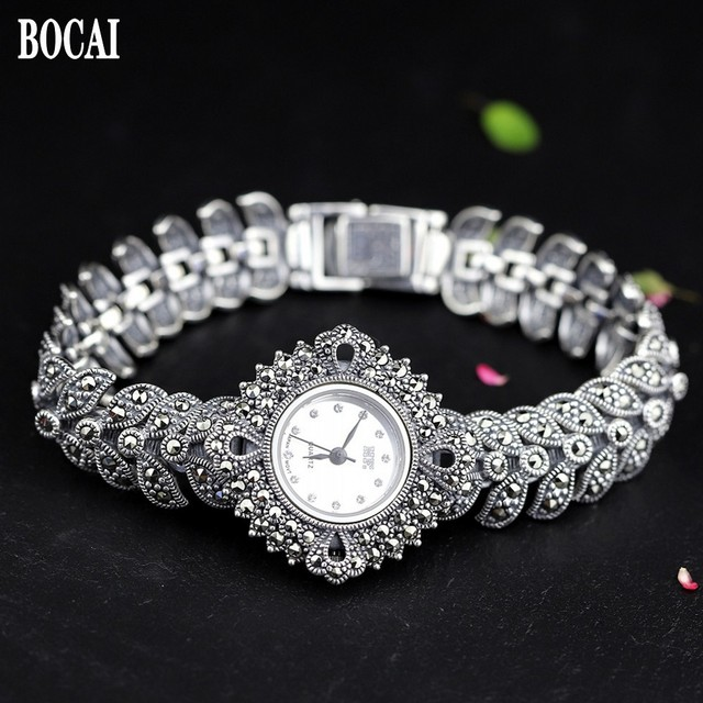 The new elegant business 925 sterling silver womens autumn bracelet watches