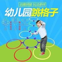 Прыгающий круг игрушка прыгающее кольцо детский сад Раннее детство дети hopscock Agile Sensory обучающее оборудование