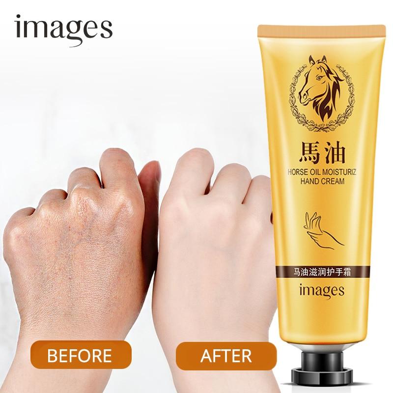 Horse Oil Repair Hand Cream Anti-Aging Soft Hand Whitening Moisturizing Nourish Hand Care Lotion Cream 30g IMAGES