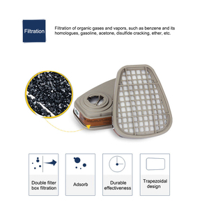 Image 4 - 19in1 3M 6200 Half Facepiece Gas Mask Respirator With 6001/2091/5N11 Filter Fit Painting Spraying Dust Proof