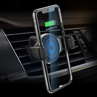 Roller Mount Car Wireless Charger 10W Qi Fast Charging For iPhone X XS XR Samsung S9 Air Vent Holder Stand
