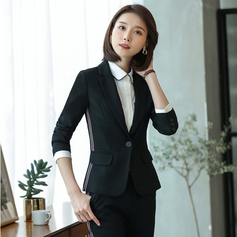 High Quality Fiber Fashion Ladies Purple Blazers Women Jackets Female Elegant Formal Office Work Wear OL Styles Tops and Coats