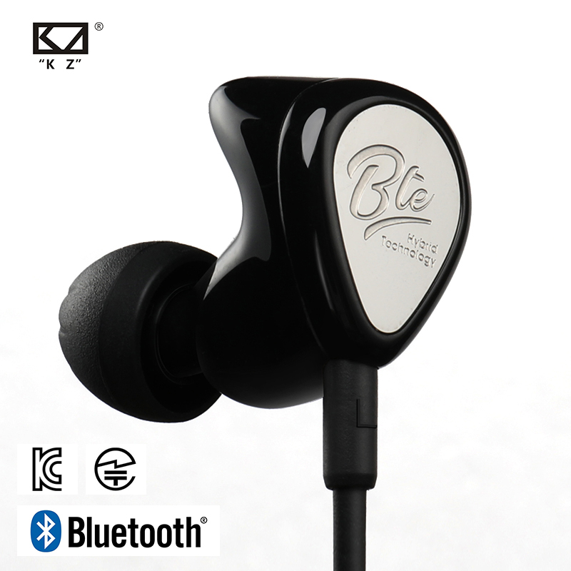 KZ BTE <font><b>Wireless</b></font> <font><b>Bluetooth</b></font> Kopfhörer Hybrid technologie Sport Kopfhörer wasserdicht HIFI Bass Earbuds In-Ear-Monitor APTX Headset image