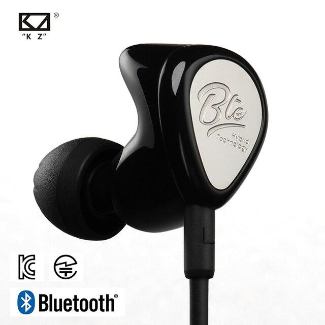 Kz bte 무선 블루투스 이어폰 하이브리드 기술 스포츠 헤드폰 방수 하이파이베이스 이어 버드 이어 모니터 aptx 헤드셋