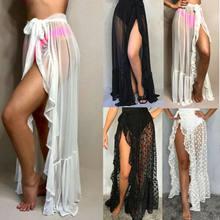 Frauen schiere Sarong Strand vertuschen Wrap Dame Bikini Pareo Bademode Baderock