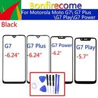 Para Motorola Moto G7 / G7 Plus / G7 de potencia/G7 Play LCD pantalla táctil frontal de vidrio exterior Lens Replacement
