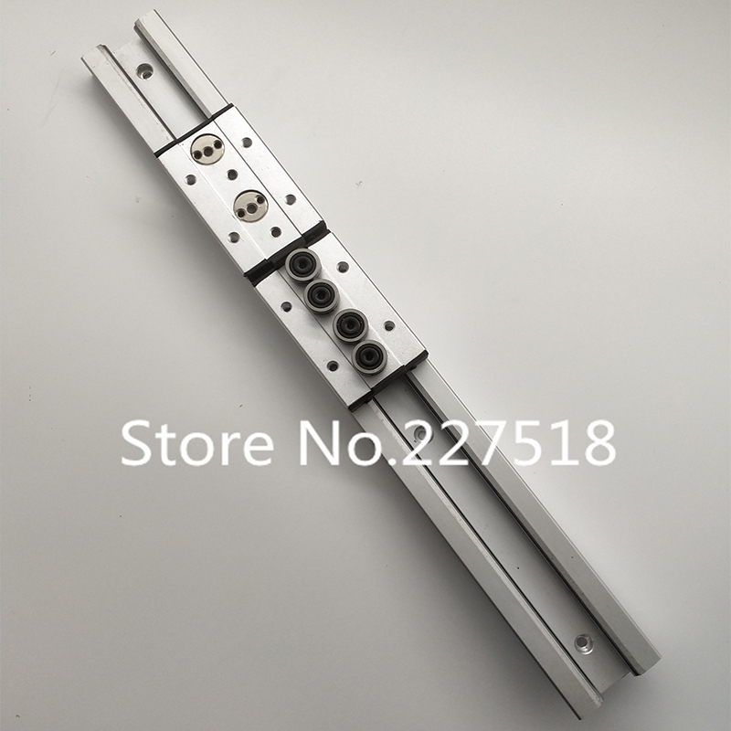 1pcs Double axis roller linear guide SGR20 L600mm +1pcs SGB20-4UU block multi axis core linear Motion slide rail auminum guide