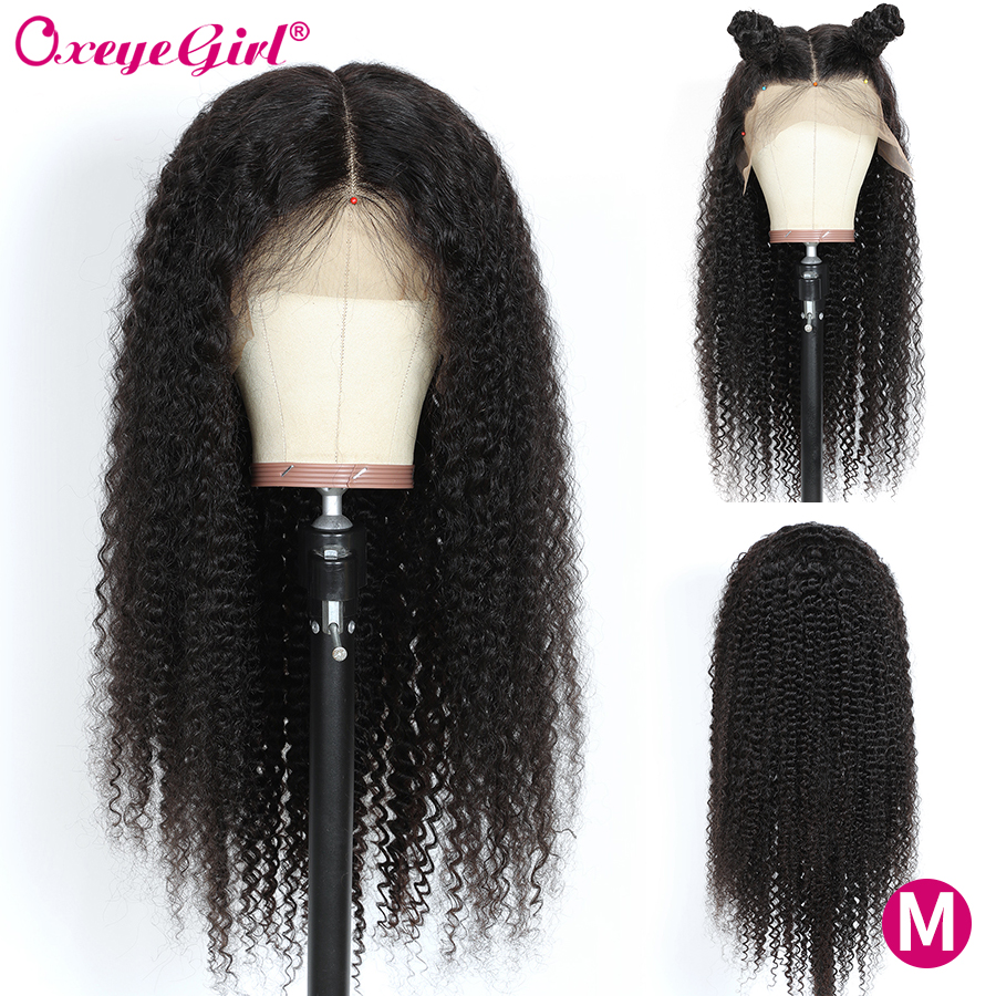 250 Density 360 Lace Frontal Wig Brazilian Remy Kinky Curly Human Hair Wig Oxeye girl Lace Front Human Hair Wigs With Baby Hair
