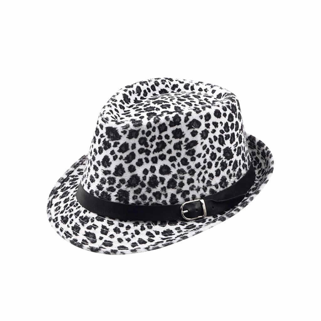 Unisex Women Men Leopard Color Winter Plus Outdoor British Hat Cap Black lace decoration Warm Hat Cap chapeau femme fedora hat
