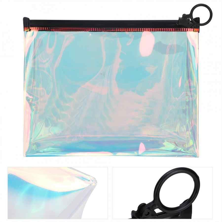 Zip lock plastic Transparent Portable Cosmetic Bag Waterproof Makeup Organizer Travel Storage Pouch closet organizer