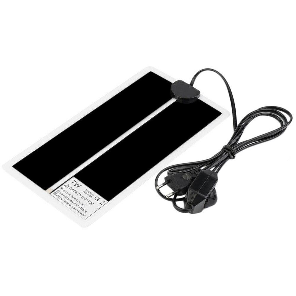 2018 New 15*28CM Adjustable Temperature Reptile Heating Heater Mat Portable Size Super Thin Pet Heating Pad For Dog Cat EU Plug