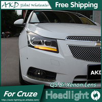 AKD Car Styling for Chevrolet Cruze Headlights 2009 2015 LED Headlight DRL Head Lamp Q5 Bi Xenon Lens High Low Beam Parking