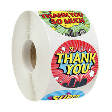 50-500 pces crianças obrigado etiquetas etiqueta conjunto para crianças aniversário festa suprimentos escola prêmios papelaria recompensa etiquetas