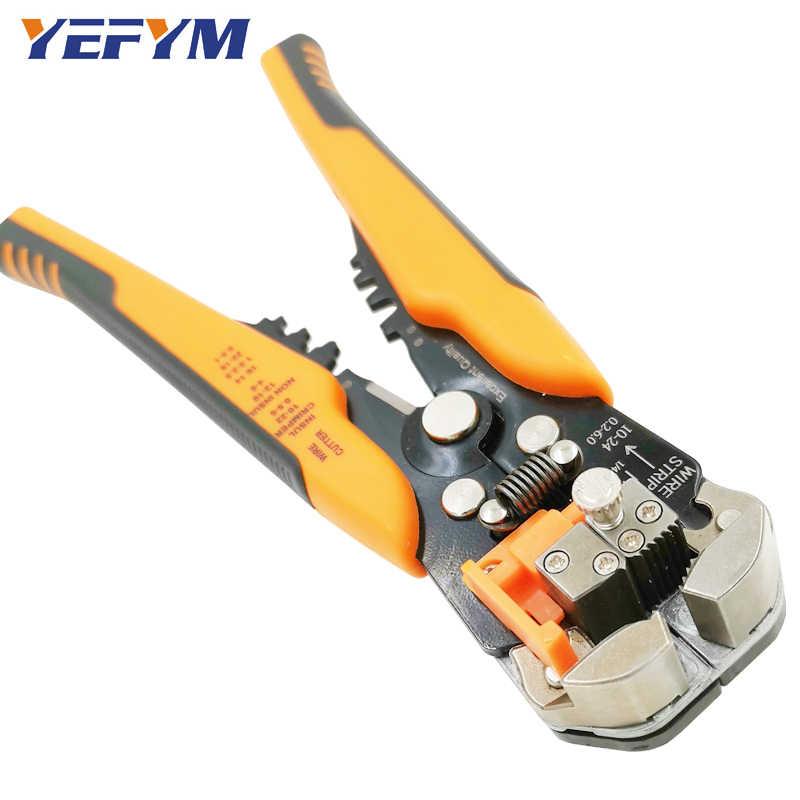 كماشة سلك قدرة 0.2-6mm2 متعددة الكهربائية acutomatic دليل المتعرية القاطع المشبك أدوات إصلاح جمع