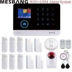 Casa sistema de alarma WiFi/GSM Bluetooth inalámbrico de alarma de seguridad antirrobo sistema de control de la aplicación con infrarrojos puerta fumar sensores dectetor