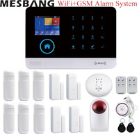 home wifi GSM alarm system kits wireless security alarm Burglar system APP control with infrared door smoking sensors dectetor