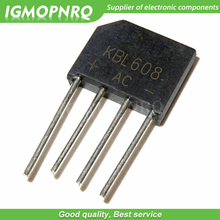 10PCS free shipping 100% new original bridge rectifier bridge KBL608 bridge rectifier 6A 800V flat bridge bridge цена