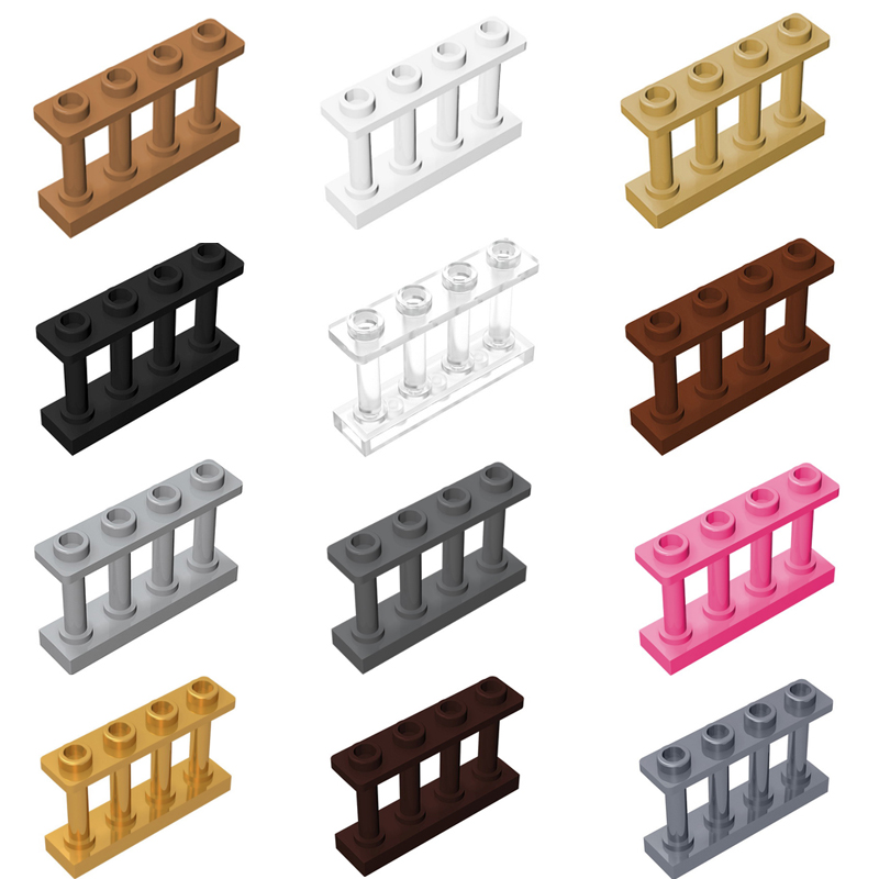 Guduola Building Block Fence Spindled 1x4x2 with 4 Top Studs (15332) MOC Build Educational Brick Toys Parts 20pcs/LOT
