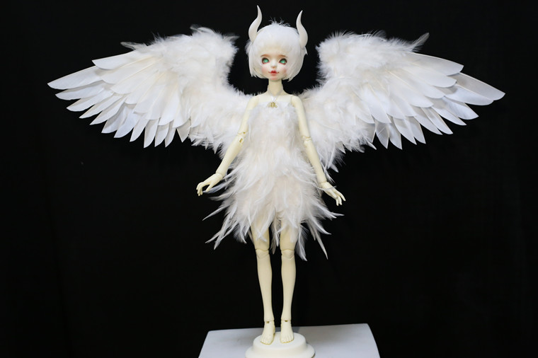 M0117 Children Handmade Toy 1/6 1/3 1/4 Uncle Doll Clothes BJD/SD Doll Props Accessories Curveable Feather Wings 1pcs