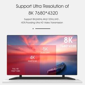 Image 2 - 8 18k 60 60hzのhdmi 2.1ケーブル4 18k 120 60hz 48gbpsの帯域幅アークmoshouビデオ2メートルコード高精細マルチメディアインタフェースアンプテレビ