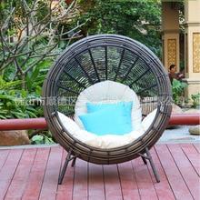 Посадки корзина балкон для отдыха круговая фотосъемка стул бистро ротанга ротанг кресло для отдыха
