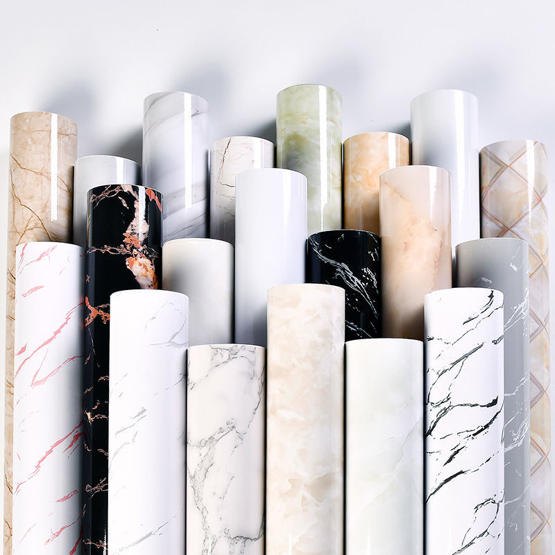 Classic Self-Adhesive Contact Paper Kitchen Wall Paper Pure Color Home Decorative Marble Wallstikers Living room Furniture