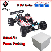 цена на Wltoys A959 RC Car 1:18 Scale 2.4G 4WD RTR Off-Road Buggy High Speed Racing Car Remote Control Truck 4 wheel Climber Blue