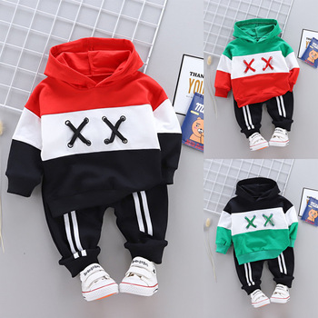 Spring Autumn Fashion Children Cotton Clothing Suit Baby Boys Girls Clothes Sport Hoodies Pants 2Pcs Infant Toddler Tracksuits new fashion spring autumn boys girls fleece hoodies children outerwear jackets baby sport suit hoodies sweatshirts pullover