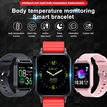 Ottwn T96 Temperature SmartWatch Women Men Smartwatch Fitness Tracker Blood Pressure Monitor sport Smartwatch For Android IOS фото