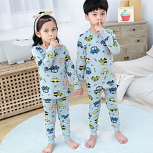 New Kids Pajamas Clothing Sets Girl Lovely Night Suit Children Cartoon Sleepwear Pyjamas Cotton Baby Boy Nightwear Teens Clothes(China)